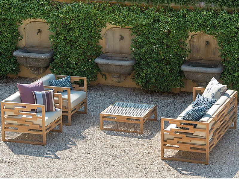 Kontiki d sof emu de madera para jard n sediarreda for Almohadones para sillones jardin