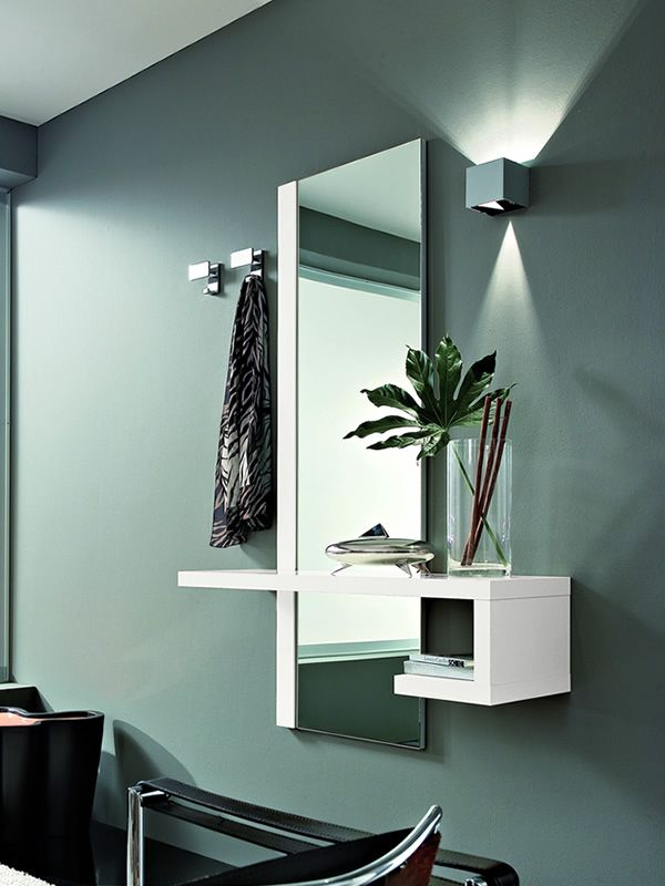 Pa252 mobile ingresso moderno con specchio e appendini diversi colori sediarreda - Mobile d ingresso ...