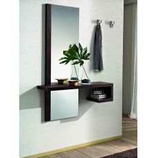 PA252 | Modern entrance furniture with mirror and hangers, several colours