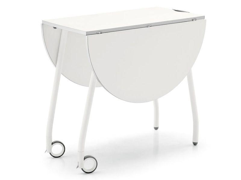 cs4062 o blitz klapptisch calligaris mit rollen sediarreda. Black Bedroom Furniture Sets. Home Design Ideas