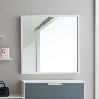 Viereckiger Spiegel Mit Holzrahmen 100x100 Cm