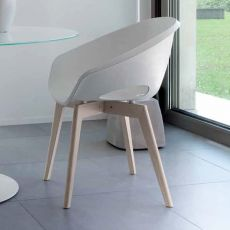 Globe-LG | Domitalia wood chair, polypropylene seat, several colours available
