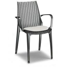 SC2651 TRICOT | Sedia moderna in policarbonato, con o senza braccioli, impilabile, anche per giardino