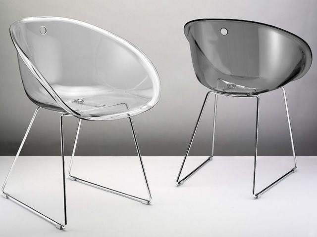 Gliss 921 chaise pedrali en m tal avec assise en for Soldes chaises transparentes