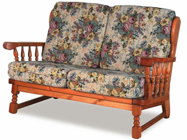 Lar10 divano canap rustique en bois avec coussins for Canape rustique
