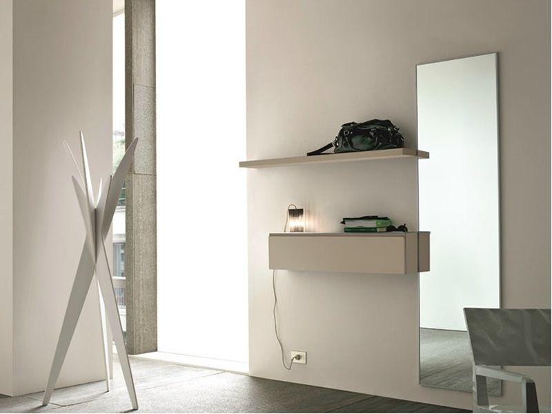 Logika 11 mobile ingresso con specchio e mensola disponibile in diversi colori sediarreda - Mobili ingresso con specchio ...