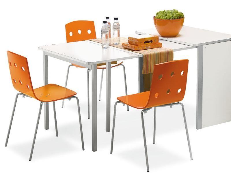 325 sedia impilabile in metallo con seduta legno in for Sedie struttura acciaio satinato