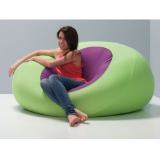 SPHERE | Design pouf, microfiber covering, different colours and sizes