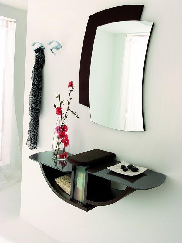 Pa164 mobile ingresso con specchio e appendini diversi colori sediarreda - Appendiabiti con specchio da parete ...