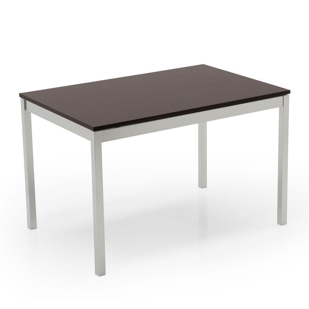 765 1 tavolo allungabile in metallo con piano in legno o for Tavolo allungabile