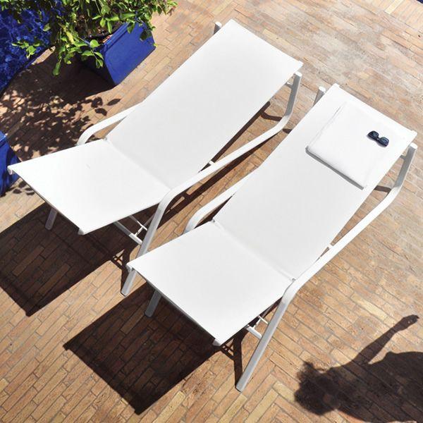sonnenliege aus metall f r garten stapelbar. Black Bedroom Furniture Sets. Home Design Ideas