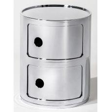 Componibili 4966 | Contenitore Kartell di design, in ABS, con due ante scorrevoli, anche per esterno