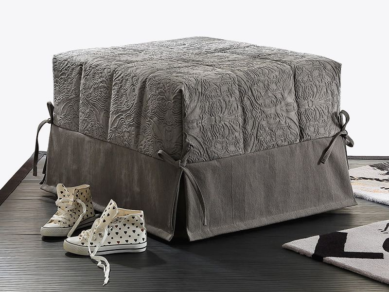 puglia pouf lit en tissu ou similicuir dehoussable sediarreda. Black Bedroom Furniture Sets. Home Design Ideas