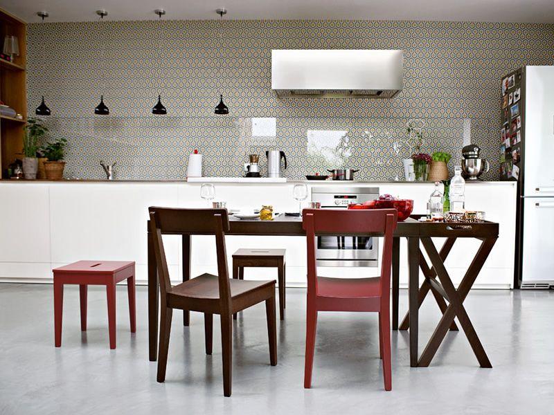 Cs4053 r la locanda tavolo calligaris in legno in for Tavolo cucina 70x70