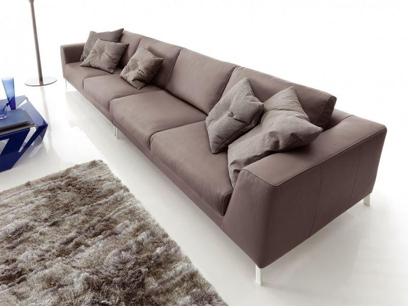 Chennai maxi divano design 6 posti in tessuto ecopelle o pelle sediarreda - Divano in pelle o ecopelle ...
