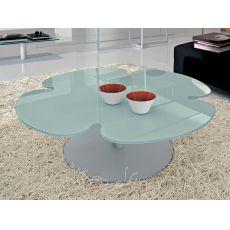 6289 | Tavolino Tonin Casa in metallo con piano in vetro