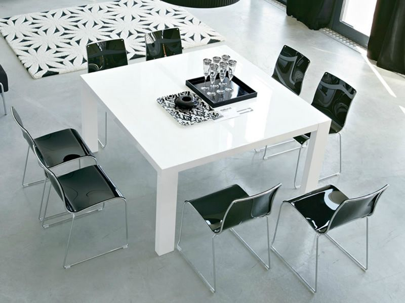 cs391 q modern tavolo calligaris in legno 140x140 cm