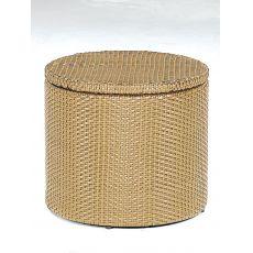 Basket | Pouf-contenitore-tavolino Emu in rattan sintetico