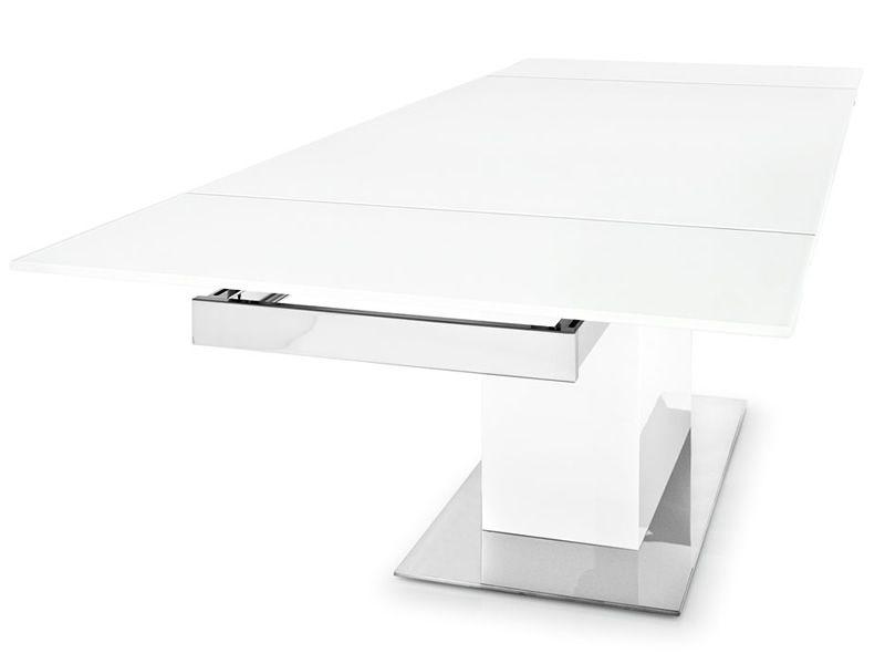 Cs4039 gr park glass tavolo calligaris moderno con piano in vetro 180x100 cm allungabile - Tavolo calligaris in vetro ...
