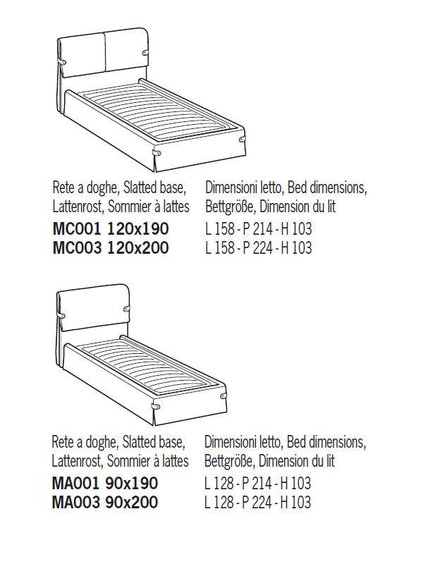 Cama de matrimonio acolchada distintas tapicer as y - Medidas de cama individual ...