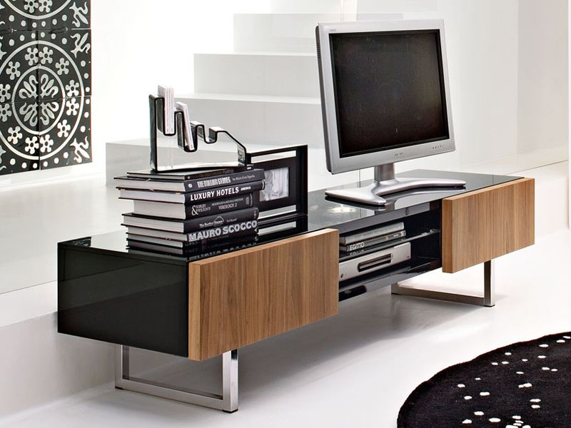 Cs6004 6 seattle mobile porta tv calligaris in legno e metallo sediarreda - Calligaris porta tv ...