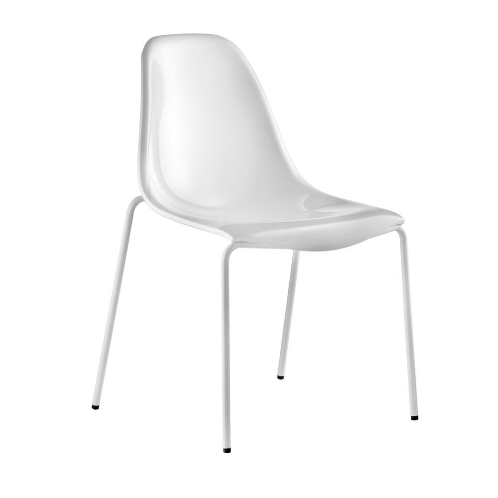 Day dream 405 sedia pedrali in policarbonato e acciaio for Sedia bianca moderna