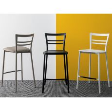 513 | Sgabello in metallo, diverse sedute disponibili, altezza seduta 65 cm