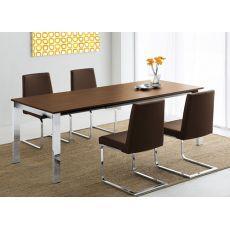 752 | Tavolo in metallo e legno, 160x90 cm, allungabile