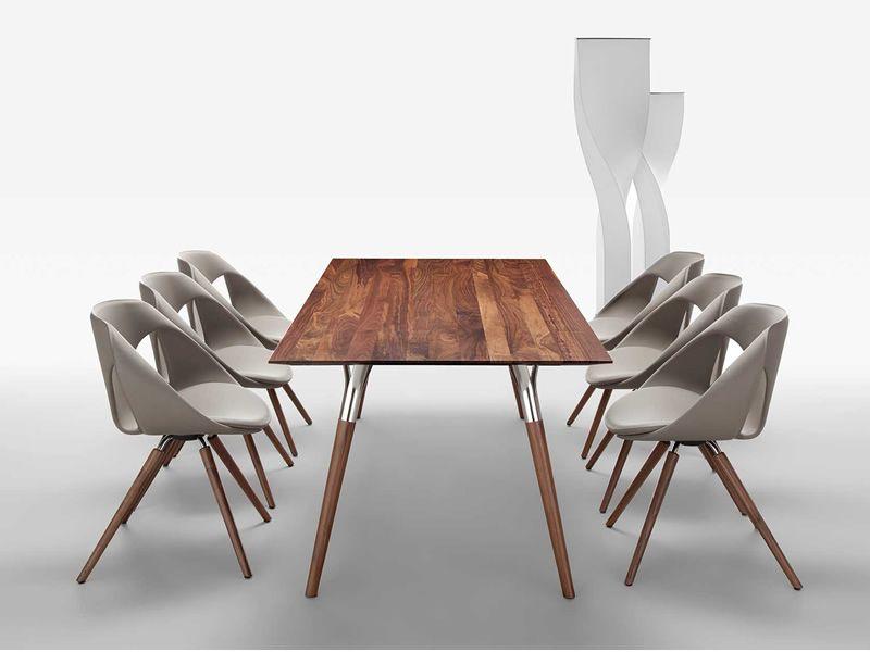 up chair leather w sedia design di tonon in legno e. Black Bedroom Furniture Sets. Home Design Ideas