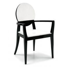 CS1061-LH Deja vu | Sedia con braccioli Calligaris in legno e cuoio, diversi colori