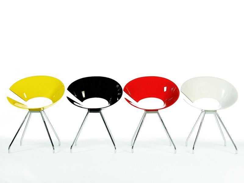 Diva sedia design di colico in acciaio diverse sedute e for Sedie design twist