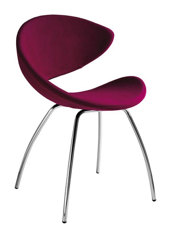Midj design stuhl aus metall gepolsterter sitz twist ts for Design stuhl metall