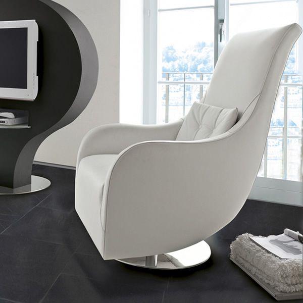 Nolita poltrona design girevole di tonin casa in pelle o for Poltrona girevole design