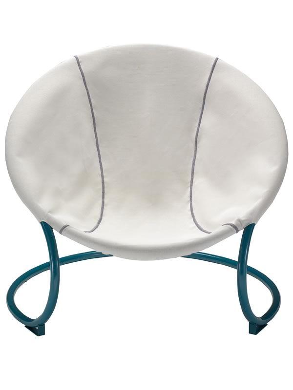 Compass fauteuil en m tal assise en tissu aussi pour - Tissu impermeable pour coussin exterieur ...