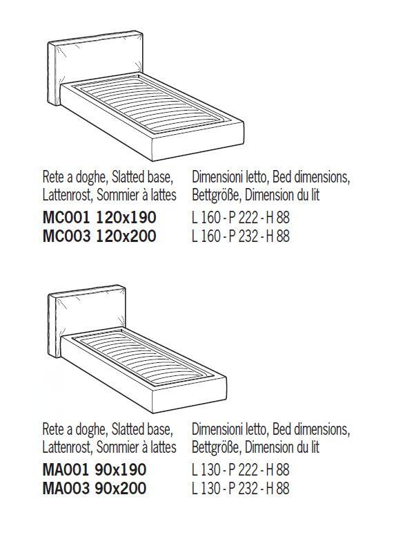 Forl cama de matrimonio acolchada distintas tapicer as for Medida estandar cama individual