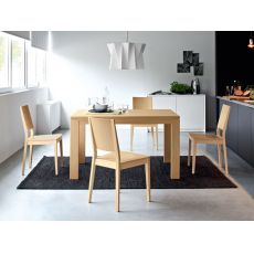 CS4004-LR Vero | Tavolo Calligaris in legno, rettangolare 130x90 cm, allungabile