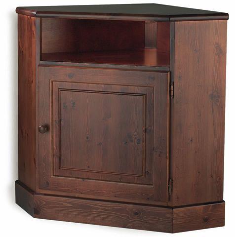 Lar6 porta tv rustico angolare in legno di pino - Porta tv angolare ...