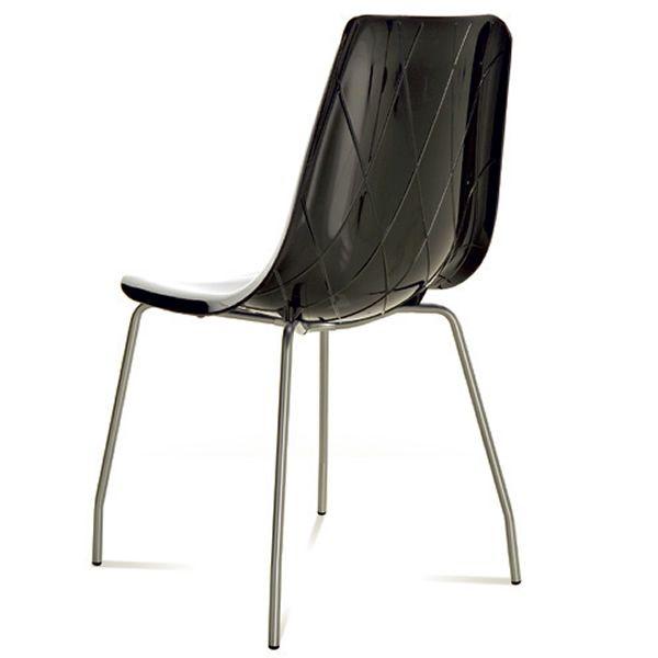 Lynea chaise domitalia en m tal et polycarbonate sediarreda for Chaise domitalia