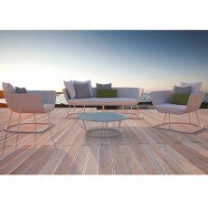 Air Set | Set design da giardino: divano, 2 poltrone e tavolino