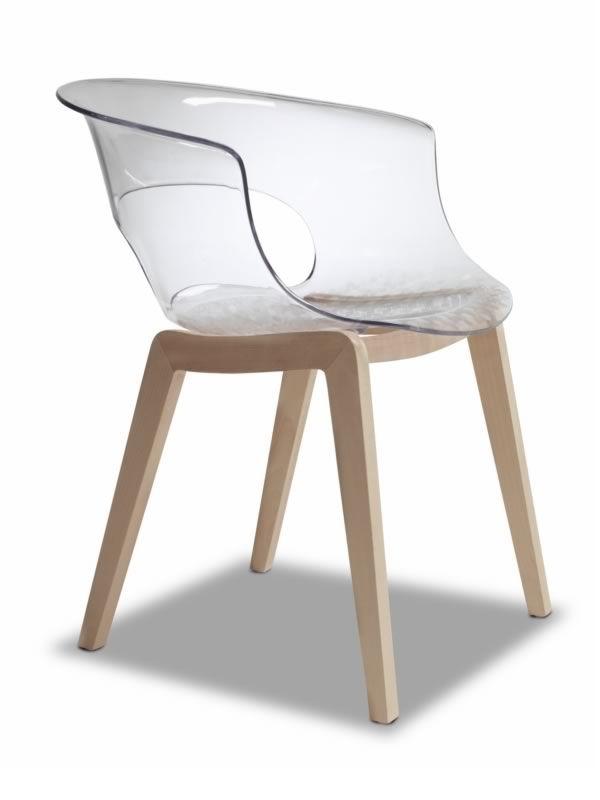 sc2800 natural miss fauteuil en bois et polycarbonate transparent ou full colour sediarreda. Black Bedroom Furniture Sets. Home Design Ideas