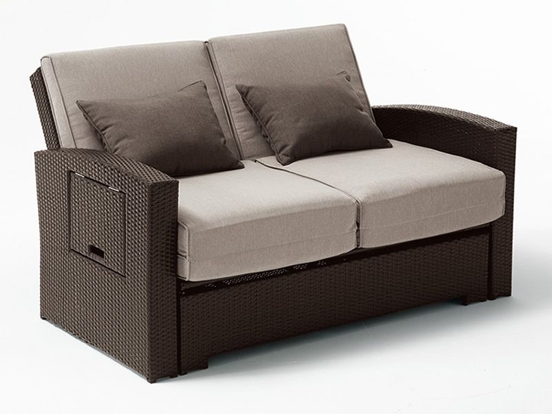 Rig64 sof cama 2 plazas estructura cubierta de mimbre for Estructura sofa cama
