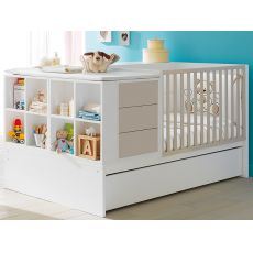 Voyager | Pali transformable cot with drawers, in several colours