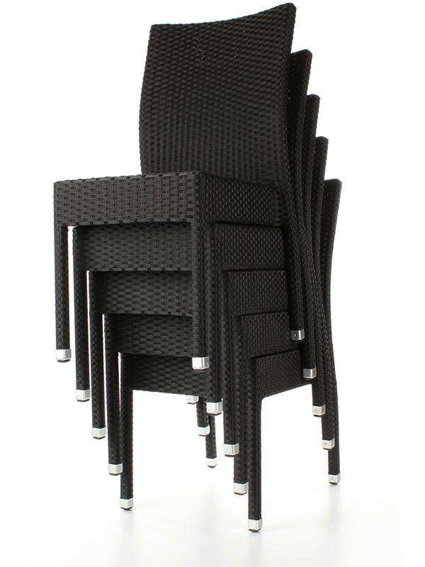 tt5 chaise pour jardin en aluminium et imitation rotin empilable en diff rentes couleurs. Black Bedroom Furniture Sets. Home Design Ideas