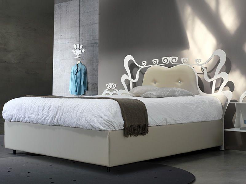 Charme letto in ferro testata in ferro e lamiera con - Imbottitura testata letto ...