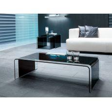 6804 | Tavolino Tonin Casa in vetro nero, 110x60 cm