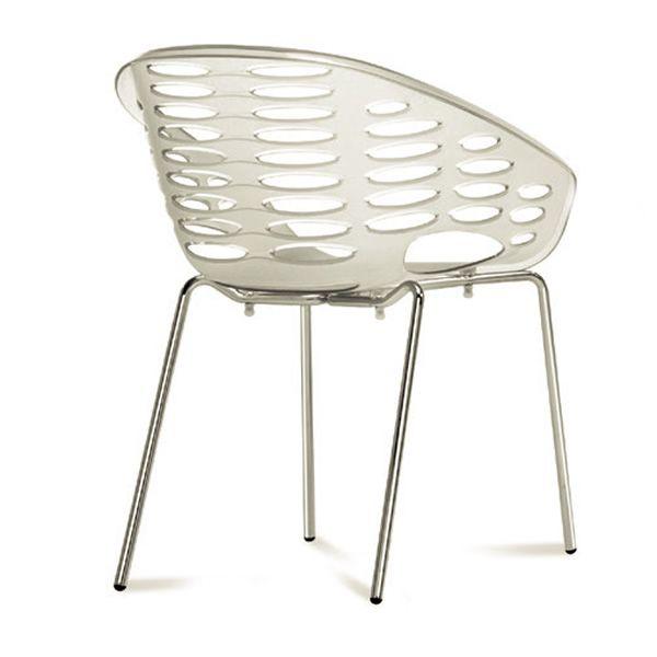 stuhl domitalia aus metall sitz aus polypropylen viele farben stapelbar blob sediarreda. Black Bedroom Furniture Sets. Home Design Ideas