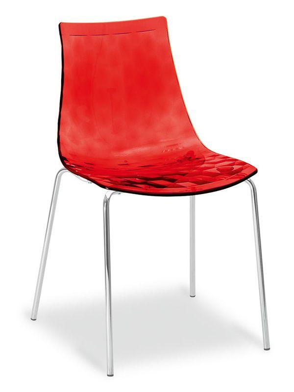 cs1038 ice sedia calligaris in metallo e tecnopolimero