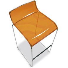 CS1014-P Irony | Sgabello Calligaris in metallo, seduta in policarbonato a 80 cm