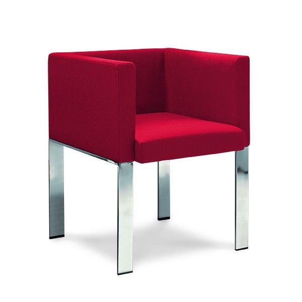 Md067 fauteuil moderne en m tal en cuir similicuir ou tissu en plusieurs c - Fauteuil cuir moderne ...