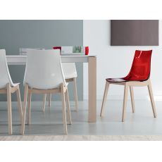 507 | Modern wood chair available with several seats
